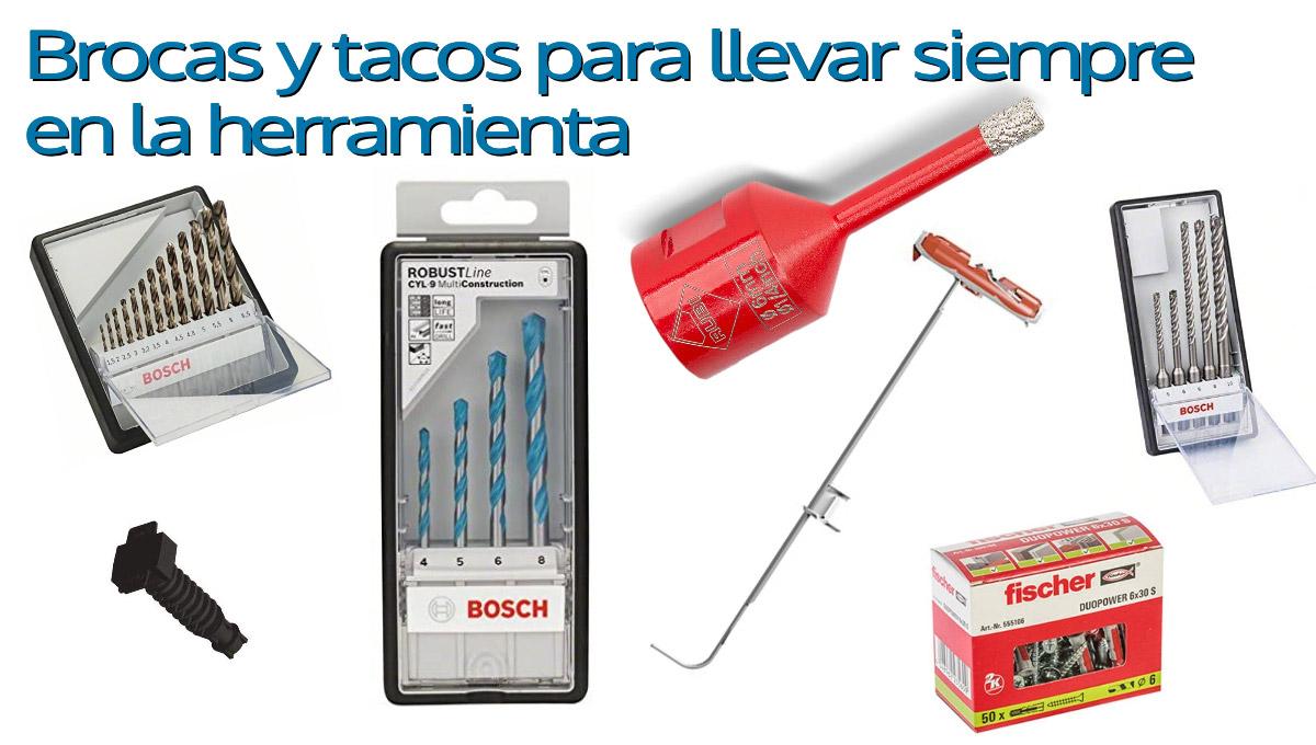 Brocas y tacos que deberías llevar siempre en tu herramienta